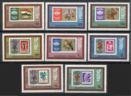 HUNGRIA 1973 - EXPO FILATELICA IBRA 73 Y POLSKA 73 - YVERT Nº 2301/2308** - Stamps On Stamps