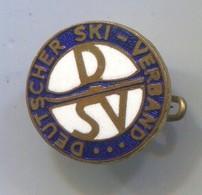 SKI SKIING JUMPING - DSV Deutscher Ski  Verband Germany, Vintage Pin, Badge, Abzeichen, Enamel - Wintersport