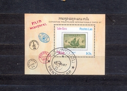 LAOS - PHILATELIC EXHIBITIONS - CAPEX 87. - TORONTO -  MI.NO.BL 116 - CV - 2 € - Philatelic Exhibitions