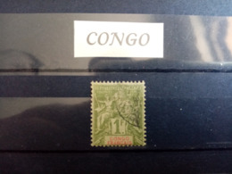 CONGO.1892.N° 42 . Type SAGE . Oblitéré .Côte Yvert 42  € - Usados