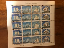 POLAND 1996 Sailing Ships. Mi 3577-80. USED Mini Sheet . - Blocks & Sheetlets & Panes