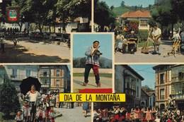 "ESPAGNE. CABEZON DE LA SAL. CARTE MULTIVUES. "" DIA DE LA MONTANA"" . - Cantabria (Santander)"