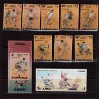 Ajman-1974,(Mi.1461-1468,Bl.378-389), Football, Soccer, Fussball,calcio,MNH - Copa Mundial