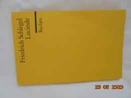 Lucinde (German Edition) -- Karl Wilhelm Schlegel, EAN 9783150003206 Philipp Reclam Jun Verlag GmbH 1999 - Books, Magazines, Comics