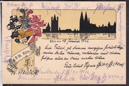 Studentika , Studentenkarte , Burschenschaft Köln 1922 - Schools