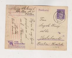 SLOVENIA,1944 GERMANY WW II,WOLLAN VELENJE Censored Postal Stationery To Croatia - Slovenia