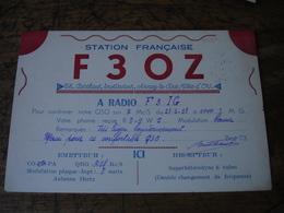 Arnay Le Duc Berthaut Instituteur 1938 Carte Q S L Qsl Radio Amateur F3oz Vignette Timbre - Radio Amatoriale