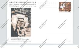 CHINA - 1987, Postal Stationeries, SINO, Declaration Of Macao - 1949 - ... People's Republic