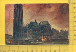 BELGIQUE, ANVERS, MALINES : Pendant Le Bombardement - Malines