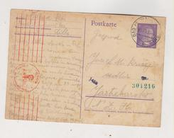 SLOVENIA,1943 GERMANY WW II,BAD NEUHAUS DOBRNA Censored Postal Stationery To Croatia - Slovenia