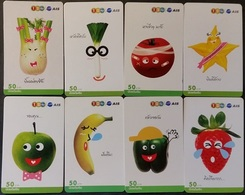8 Mobilecards Thailand - Lustiges Gemüse & Obst - Thailand