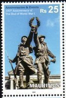 MAURITIUS , 2018, MNH, WWI, 100 YEARS SINCE THE END WWI, SOLDIERS, 1v - 1. Weltkrieg