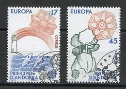 Andorre Espagnol - Andorra 1986 Y&T N°178 à 179 - Michel N°188 à 189 (o) - EUROPA - Andorra Española