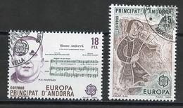 Espagne CEPT 1985 Andorre Espagnol - Andorra Y&T N°172 à 173 - Michel N°181 à 182 (o) - Europa-CEPT
