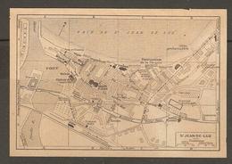 CARTE PLAN 1926 - SAINT JEAN De LUZ - TRINQUET GELOS FRONTON MUNICIPAL CASINO - CASINO Et HOTEL En PROJET - Cartes Topographiques