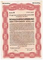 Titre Ancien - Ige österreichische Trefferanleihe - Bon Obligataire Autrichien -1933 - A - C