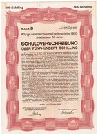 Titre Ancien - Ige österreichische Trefferanleihe - Bon Obligataire Autrichien -1933 - Actions & Titres