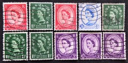 Timbres De Grande-Bretagne N° 264b_266a_266c_289_289b_291Ab_291A_292_311_328Aa - 1952-.... (Elizabeth II)