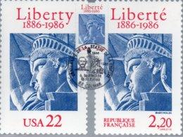 FRANCE / CARTE FDC CENTENAIRE DE LA STATUE DE LA LIBERTE 1986 N°2421 - FDC