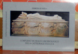 Biglietto Ingresso Italia  Museo Cattedrale Lucca - Tickets D'entrée
