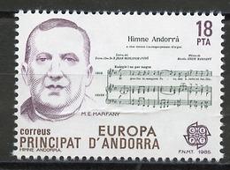 Andorre Espagnol - Andorra 1985 Y&T N°172 - Michel N°181 *** - 18p EUROPA - Andorra Española