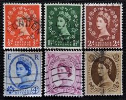Timbres De Grande-Bretagne N° 287_289_290_292_294_299 - 1952-.... (Elizabeth II)