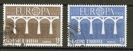 Andorre Espagnol - Andorra 1984 Y&T N°167 à 168 - Michel N°175 à 1176 (o) - EUROPA - Andorra Española