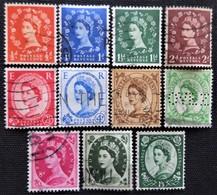 Timbres De Grande-Bretagne N° 262_263_264_265_266_268_269_271_272_273_277 - 1952-.... (Elizabeth II)