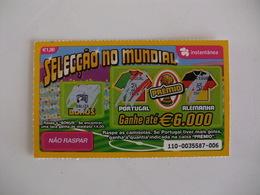 Loterie Lottery Loteria Lotaria Instant Instantânia Raspadinha Jogo Nº 110 Portugal-Alemanha Seleção No Mundial Portugal - Lotterielose