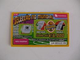 Loterie Lottery Loteria Lotaria Instant Instantânia Raspadinha Jogo Nº 110 Portugal-Angola Seleção No Mundial Portugal - Lotterielose