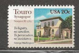 1982 20 Cents Synagogue, Mint Never Hinged - United States