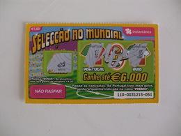 Loterie Lottery Loteria Lotaria Instant Instantânia Raspadinha Jogo Nº 110 Portugal-Irão Seleção No Mundial Portugal - Lotterielose