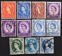 Timbres De Grande-Bretagne N° 327c_328B_329B_331a_331Bb_331b_332B_332Aa_338B_339_342B - 1952-.... (Elizabeth II)