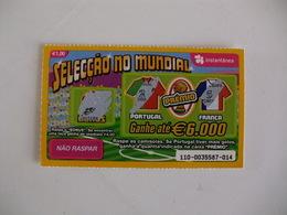 Loterie Lottery Loteria Lotaria Instant Instantânia Raspadinha Jogo Nº 110 Portugal-França Seleção No Mundial Portugal - Lotterielose