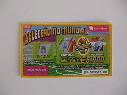 Loterie Lottery Loteria Lotaria Instant Instantânia Raspadinha Jogo Nº 110 Portugal-Holanda Seleção No Mundial Portugal - Lotterielose