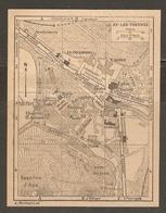 CARTE PLAN 1926 - AX Les THERMES - CASINO ESQUINE D'ASE COULOUBRET LE BREIHL GENDARMERIE - Cartes Topographiques
