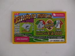 Loterie Lottery Loteria Lotaria Instant Instantânia Raspadinha Jogo Nº 110 Portugal-Itália Seleção No Mundial Portugal - Lotterielose