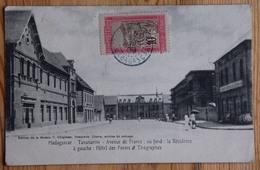 Madagascar - Tananarive - Avenue De France - Au Fond La Résidence - À Gauche Hôtel Des Postes Et Télégraphes - (n°17781) - Madagascar