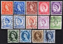 Timbres De Grande-Bretagne N° 327_328_329_330_331_332_332A_333_335_336_338_339_340_342 - 1952-.... (Elizabeth II)