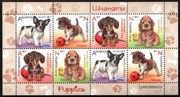 466 - Belarus - 2017 - Puppies Dogs - M/s Of 8v - MNH - Lemberg-Zp - Belarus