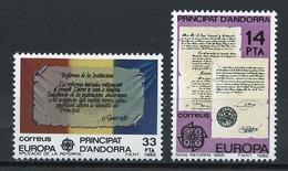 Andorre Espagnol - Andorra 1982 Y&T N°146 à 147 - Michel N°153 à 154 *** - EUROPA - Andorra Española