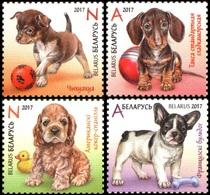 465 - Belarus - 2017 - Puppies Dogs - 4v - MNH - Lemberg-Zp - Belarus