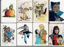 Lot De 8 Boites Allumettes Ext. Album B.D. Dargaud - Année 1985 - Matchboxes