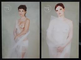 Sein Nude Females Lot De 2 Carte Postale - Pin-Ups
