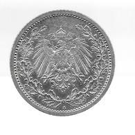 Allemagne. 1/2 Mark 1914 A, Superbe Qualité - (901) - [ 2] 1871-1918 : Imperio Alemán