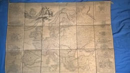 Carte D' Europe 1er Empire 1813 - Authentique - Entoilée - 78 X 112 Cm - Vente En France Seulement - Sale In France Only - Geographical Maps