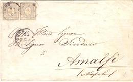 1859 Antichi Stati Sardegna  Con Coppia Francob Per Stampati Da Genova X Amalfi-franc - Sardaigne