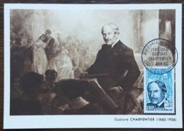CM 1962 - YT N°1348 - GUSTAVE CHARPENTIER - DIEUZE - Cartas Máxima