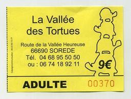 La Vallée Des Tortues. The Valley Of Turtles. Sorède, France. Tortoise, Schildkröt... Francia Frankreich França - Tickets D'entrée
