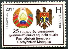 485 - Belarus - 2017 - Diplomatic Relations Between Belarus And Moldova - 1v - MNH - Lemberg-Zp - Belarus